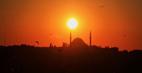 istanbul day sunset