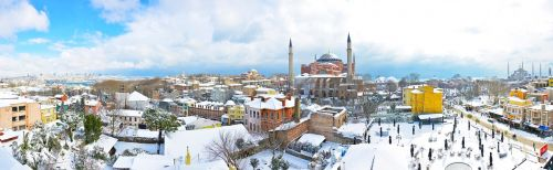 istanbul sultanahmet snow