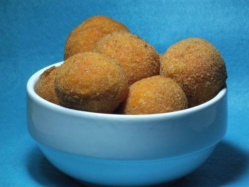 italian food crocchette di patate potato croquettes