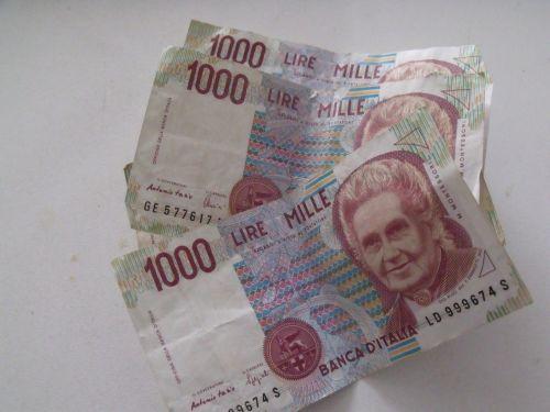 currency,money,banknotes,italianlire,italian lire