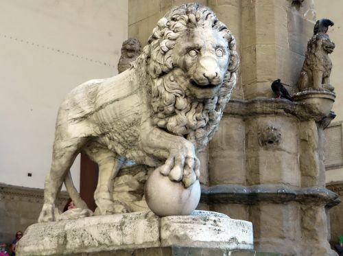 italy,Florencija,loggia dei lanzi,liūtas,statula,marmuras,Toskana
