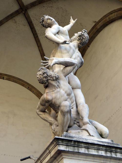 italy,Florencija,loggia dei lanzi,sabines,giambologna,marmuras,Toskana