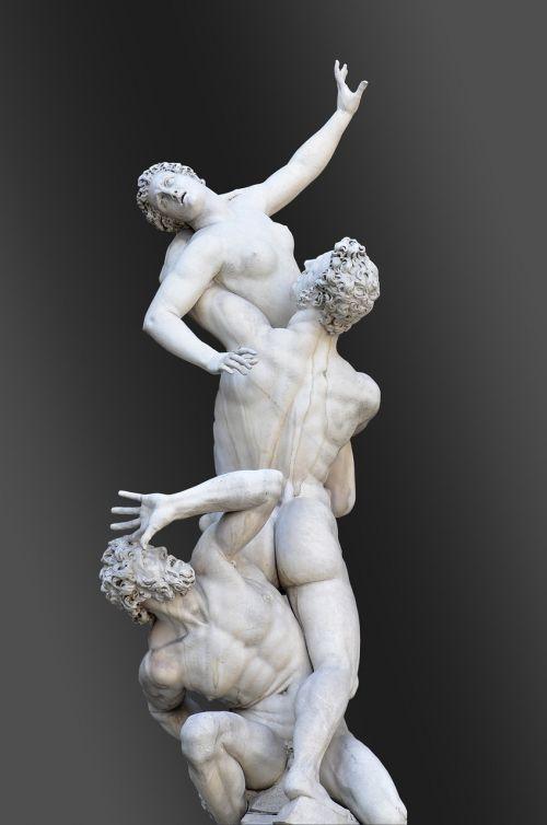 italy,Florencija,statulos,loggia dei lanzi,sabino pagrobimas,giambologna