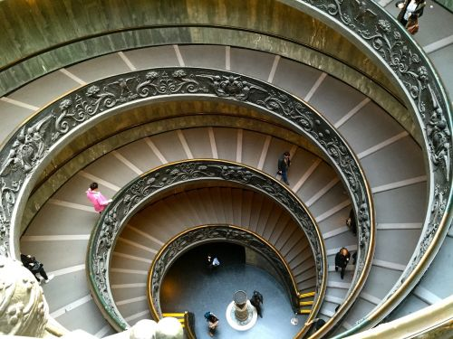 italy stairs vatican