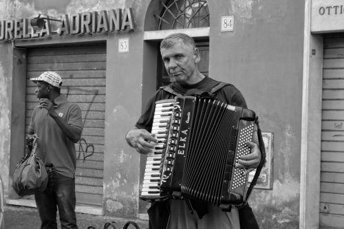 italy rome accordion