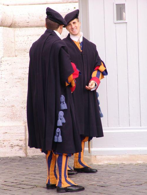 italy vatican city life guards