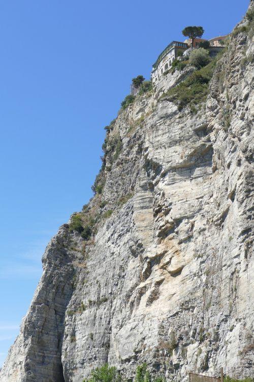 italy campania cliff