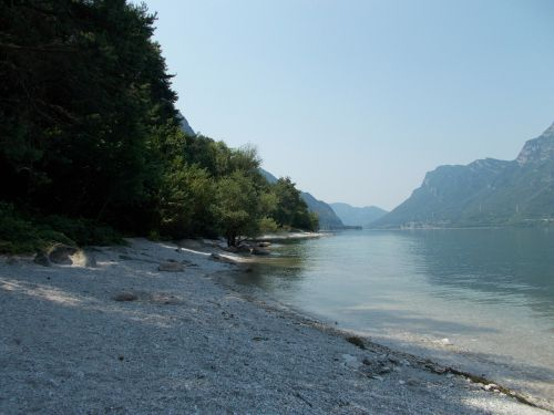 italy lake idro summer