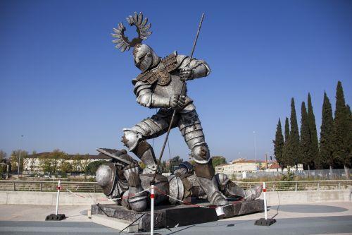 italy sculpture heroes