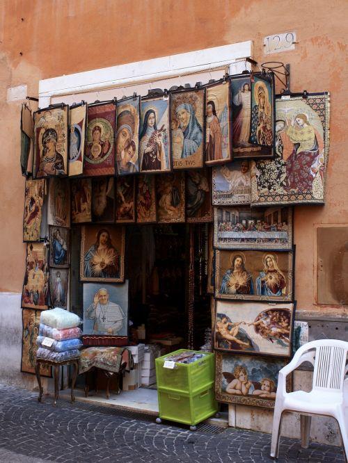 italy rome street trading