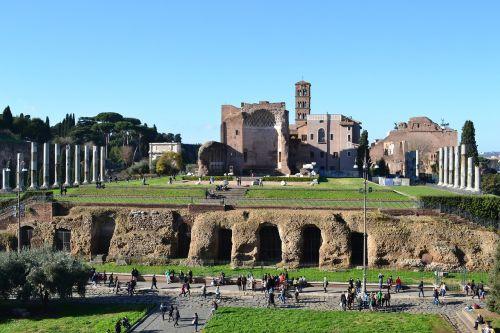 italy rome columns