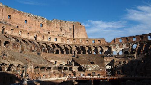 italy amphitheater ruin