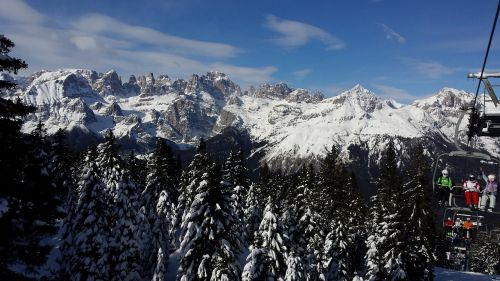 italy andalo winter