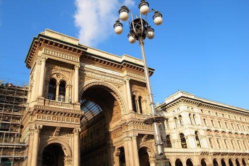 italy,milanas,arcade,Piazza vittorio emanuele ii galerija,prekybos centras,architektūra
