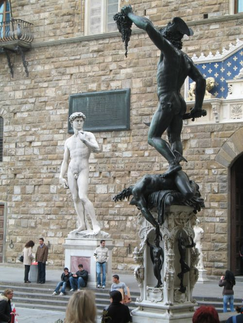 Italy Florence Statues