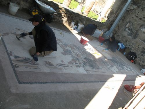 Italy Pompeii Mosaic