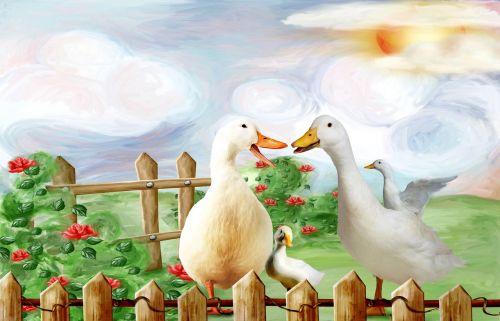 jabbering duck goose