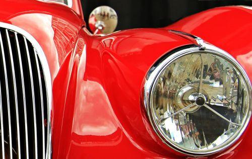 jaguar oldtimer red