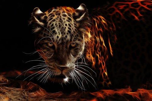 jaguar  fractalius  fiery