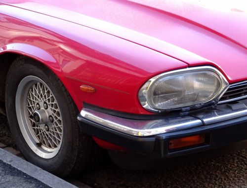 Jaguar XJS Car Wheel And Lights