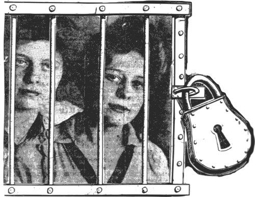 jail padlock girls