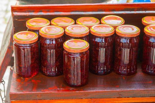 džemas,koprivshtitza,vaisiai,puodai