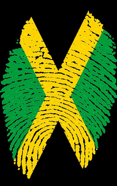 jamaica flag fingerprint