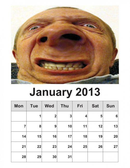 January 2013 Calendar