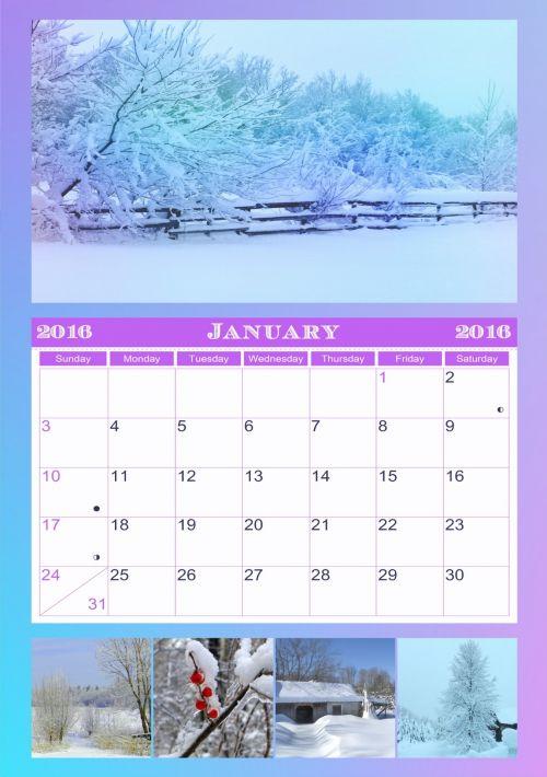 January 2016 Calendar # 1