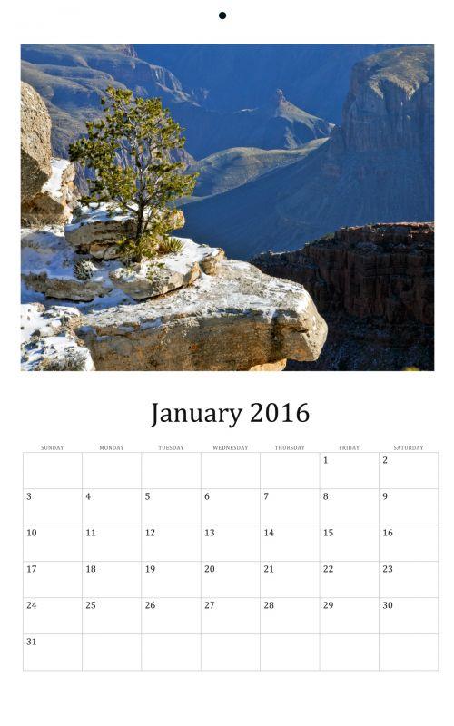 January 2016 Wall Calendar