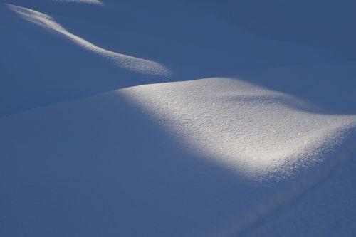 january snow light
