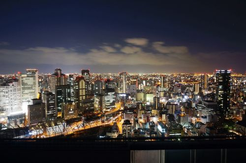 japan osaka osaka night view