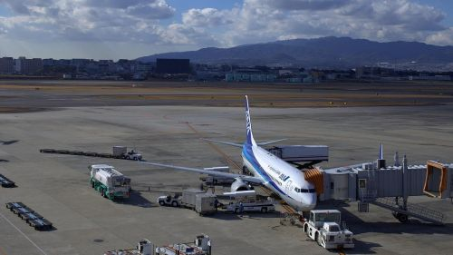 japan blue sky osaka airport