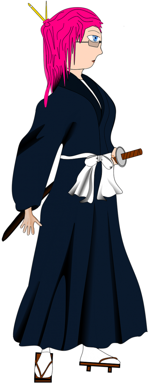 japan woman sword