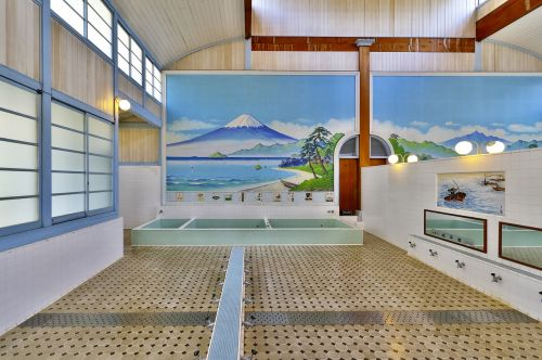 japan building public bath