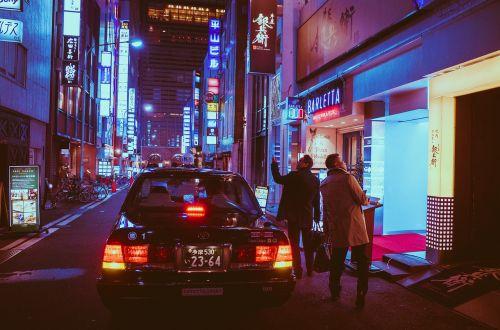 japan osaka night