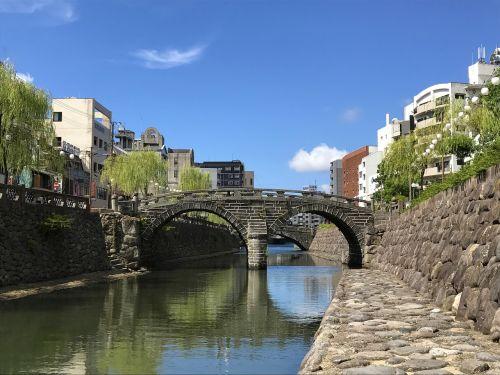japan nagasaki megane bridge
