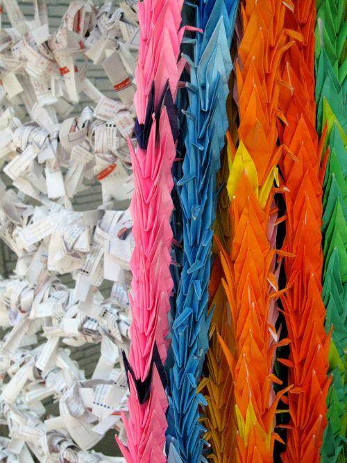 japan thousand origami cranes check paper