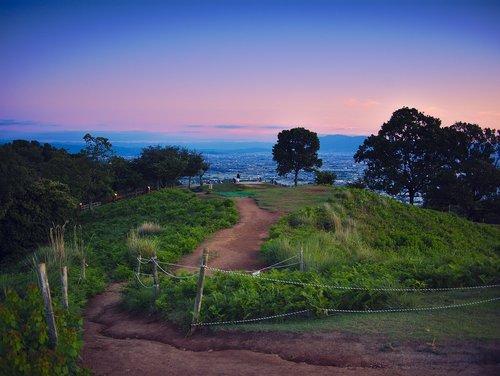 japan  nara  sunset