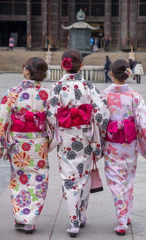 japan  nara  kimonos