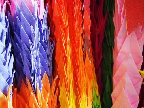 japan paper cranes blessing