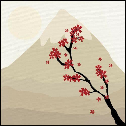 japanese tree mountain
