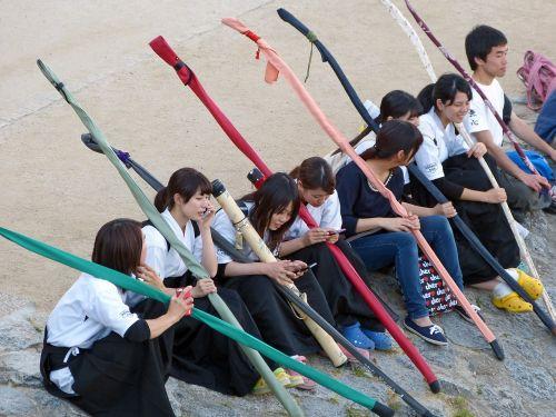 japanese sitting students