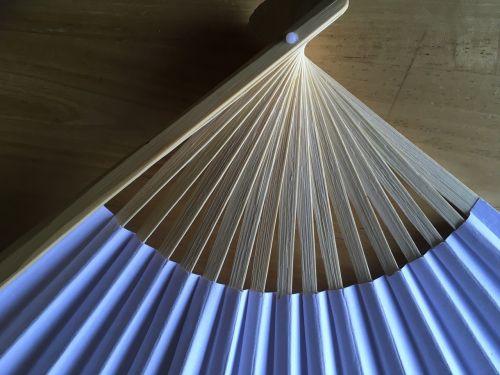 japanese fan paper fan abstract blue