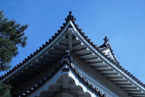 japanese palace details  kyoto  edo period architecture