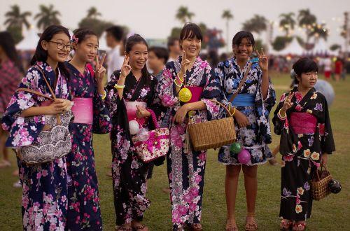 japanese teenager japanese girl bon odori
