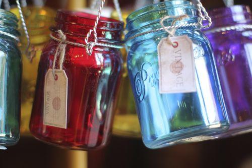 jars glass colored