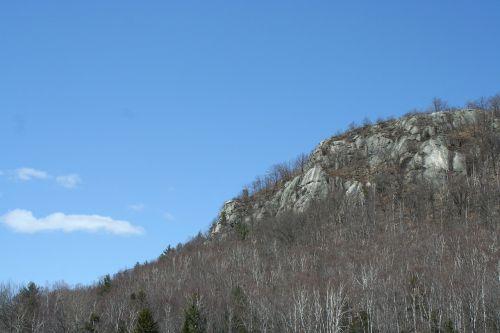 jasper mountain blue sky