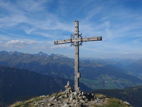 jaufenspitze summit cross cross