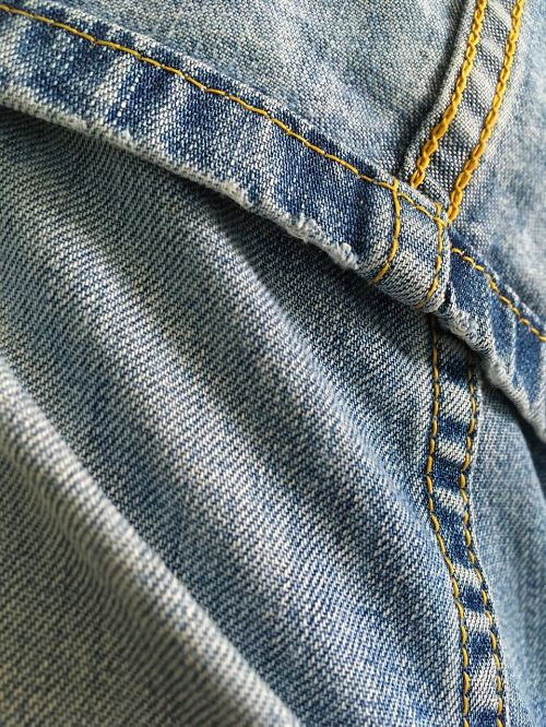 jeans fabric blue